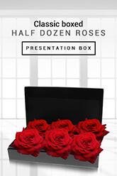 Classic Boxed Half Dozen Roses